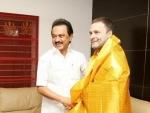 DMK president M.K. Stalin proposes Rahul Gandhi's name as next PM