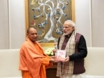 Uttar Pradesh Chief Minister Yogi Adityanath meets PM Modi