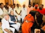 Amit Shah reaches central Karnataka, visits Siddaganga Mutt