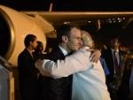Prime Minister Narendra Modi welcomes French President Emmanuel Macron to India