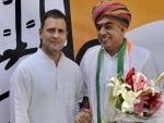Jaswant Singh's son Manvendra joins Congress; Rahul Gandhi welcomes