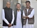 'United colours of Rajasthan', Rahul Gandhi tweets picture with Ashok Gehlot, Sachin Pilot