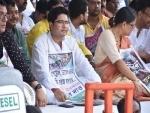 Kolkata: TMC hits streets to protest fuel price hike