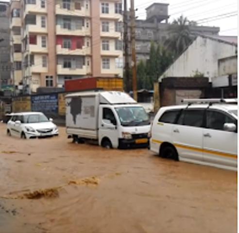 Heavy rains lead to water logging in Guwahati, woman dies in landslide