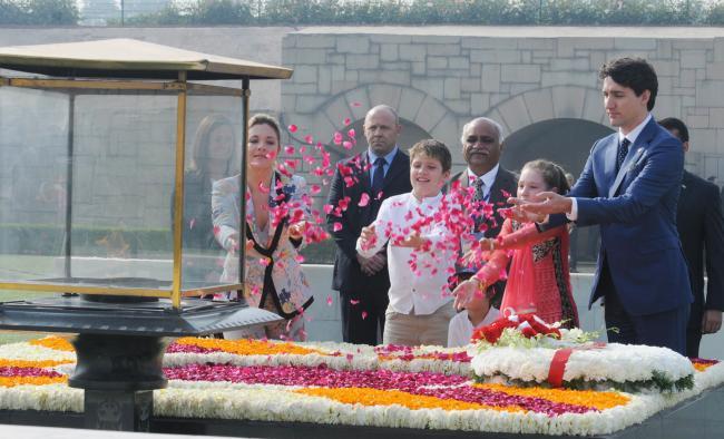 Sushma Swaraj to meet Canadian counterpart ahead of PM Modi-Trudeau talks