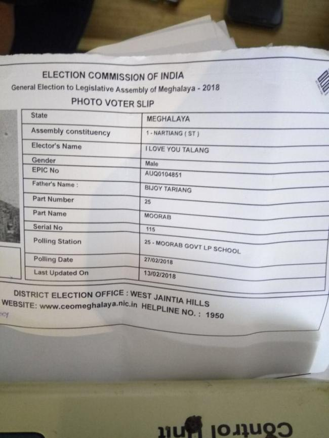 From I Love You Talang to Argentina, Italy, Skip, Enjoy, Rajdoot, all exercise franchise in Meghalaya polls