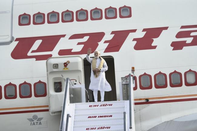 Narendra Modi leaves for Sweden