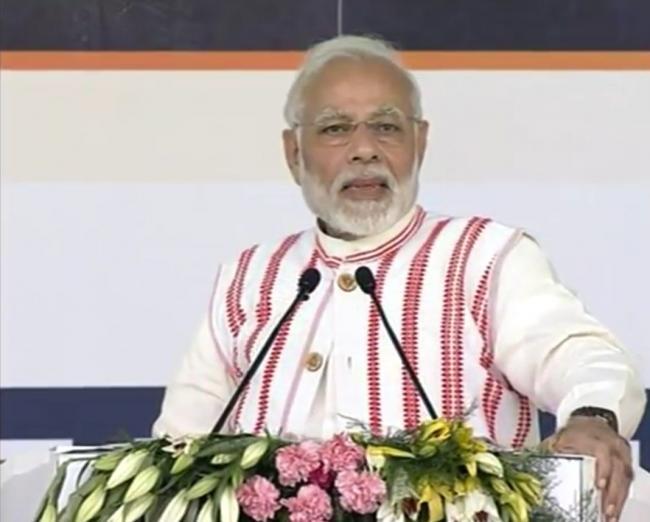Indian PM Narendra Modi launches Pradhan Mantri Jan Arogya Yojana