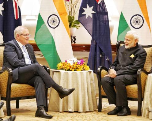 PM Modi meets Australian Prime Minister Scott Morrison on the sidelines of East Asia Summit