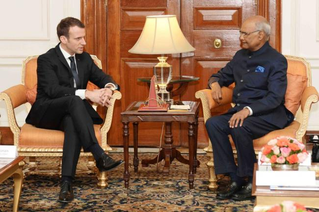 President Of France Emmanuel Macron Calls On President Ram Nath Kovind Indiablooms First Portal On Digital News Management