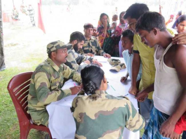 BSF organises medical camp along Indo-Bangladesh border in Assam's Masalabari