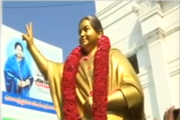 Jayalalithaa's new statue unveiled at party headquarters in Chennai