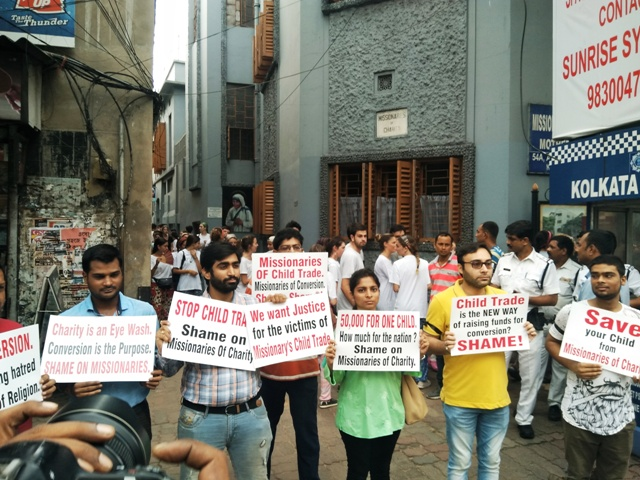 Baby trafficking: Activists protest outside Missionaries of Charity headquarters in Kolkata