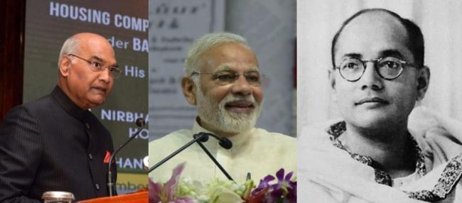 Image result for Kovind, Modi pay tributes to Netaji