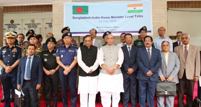 Rajnath Singh co-chairs the 6th meeting of India-Bangladesh Home Minister level talks with his counterpart Asaduzzaman Khan in Dhaka