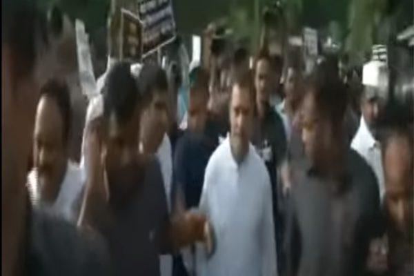 Bharat Bandh hits normal life in Assam, Bihar; Rahul Gandhi leads opposition's protest over fuel price