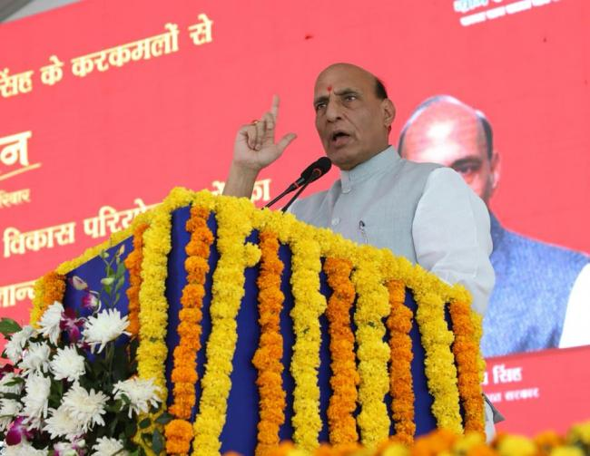 Two Border Battalions to be constituted: Rajnath Singh at press conference in Jammu