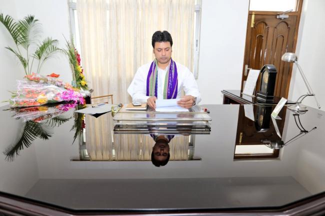 BJP sweeps Tripura civic by-elections, Ram Madhav appreciates CM Biplab Kumar Deb