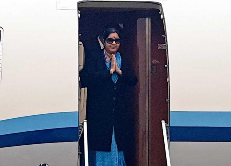 Sushma Swaraj commences her three-nation tour