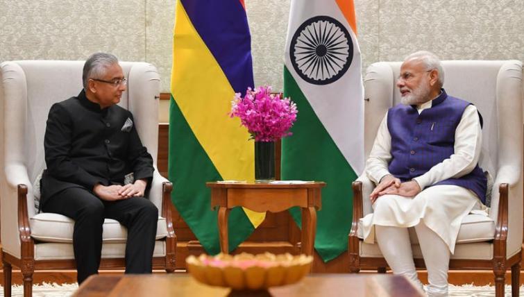 Mauritius PM Pravind Jugnauth meets Modi