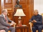 Prince Albert II of Monaco calls on the President Kovind