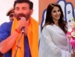 Border star Sunny Deol shines for BJP from Gurdaspur , Congress candidate Urmila Matondkar trails