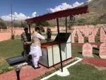 Rajnath Singh visits Jammu and Kashmir, pays tribute at Kargil war memorial