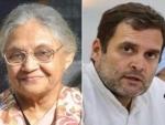 Rahul Gandhi pays tribute to former Delhi CM and Congress leader Sheila Dikshit