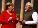 PM Modi meets Angela Merkel at Rashtrapati Bhavan