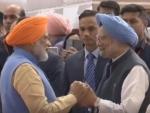 Modi shares light moment with Manmohan Singh before former PM's departure for Kartarpur Sahib