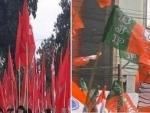 BJP, CPI-M clash during protest rally in Tripura