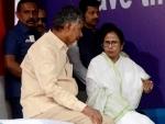 After rubbishing exit polls, Chandrababu Naidu meets Mamata in Kolkata