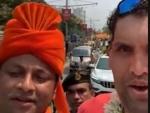 Great Khali campaigns for BJP candidate from Jadavpur Lok Sabha seat Anupam Hazra