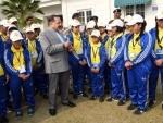 Group of children from Sikkim called on DoNER Minister Jitendra Singh