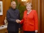 German Chancellor Angela Merkel meets President Kovind