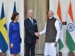 PM meets Sweden King Carl XVI Gustaf and Queen Silvia