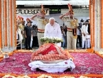 Last rites of former External Affairs Minister Sushma Swaraj held in Delhi with full state honours