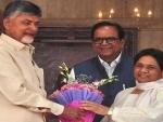 Opposition unity: Chandrababu Naidu meets Akhilesh Yadav, Mayawati over opposition unity post LS polls