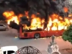 Anti-CAA agitations hit Delhi: Protesters set buses on fire; police use tear gas