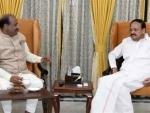 Newly-elected Lok Sabha Speaker Om Birla calls on Vice President