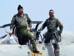 Air Chief Marshal BS Dhanoa flies MiG-21 with Abhinandan Varthaman in his last sortie before retirement