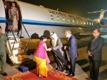 Sushma Swaraj arrives Abu Dhabi to be first Indian Foreign Minister to attend OIC meet