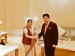 OIC: Sushma Swaraj meets  Bangladesh Foreign Minister AK Abdul Momen
