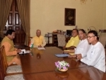 Governor Keshari Nath Tripathi holds four-party meeting at Raj Bhawan