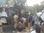Six died, 20 injured as bus hit truck on Pune-Bangalore national highway