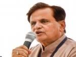 Congress' Ahmed Patel congratulates Manmohan Singh for Mission Shakti