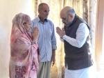 Amit Shah visits martyr SHO's residence in Srinagar, offers condolences