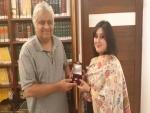 Sushma Swaraj's daughter meets Harish Salve, presents him with Re 1 coin