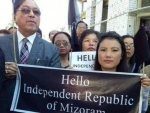 Protests against Citizenship Amendment Bill: Former Mizoram CM Lal Thanhawla holds banner calling for independent Mizoram