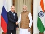 Narendra Modi thanks Russian President Vladimir Putin after he was awarded Order of St Andrew